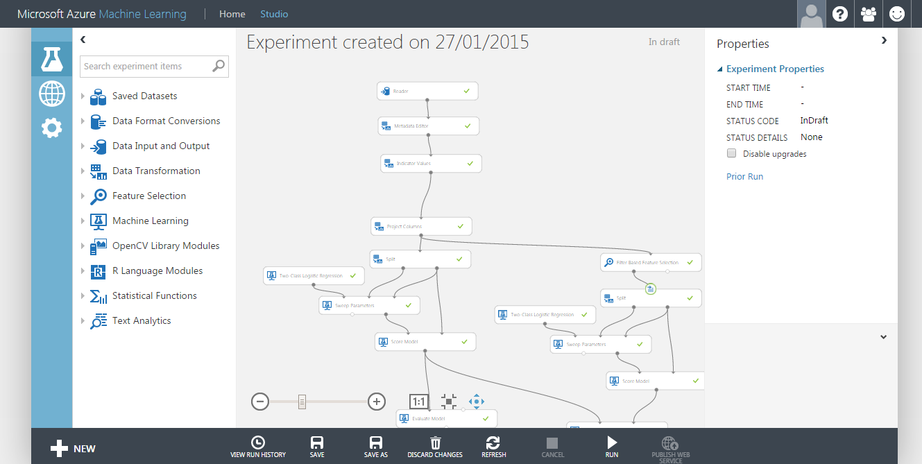 Azure Machine Learning experiment